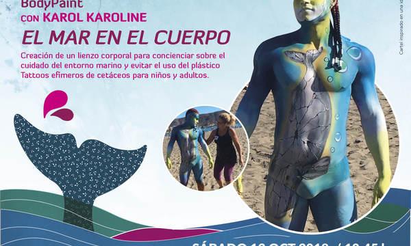El Festival Arona Son Atlántico renueva la apuesta por el 'bodypaint' para fomentar el compromiso con los océanos