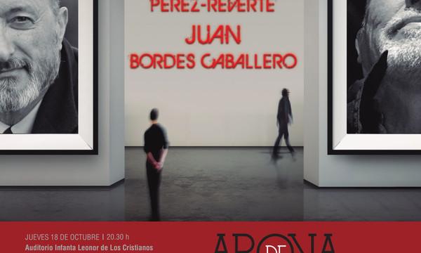 Juan Cruz dialoga con Pérez-Reverte y Bordes este jueves en Los Cristianos en el marco de Arona de las Artes y las Letras