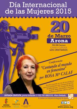 DIA INTERNACIONAL DE LA MUJER-2015 ROSA MARIA CALAF.